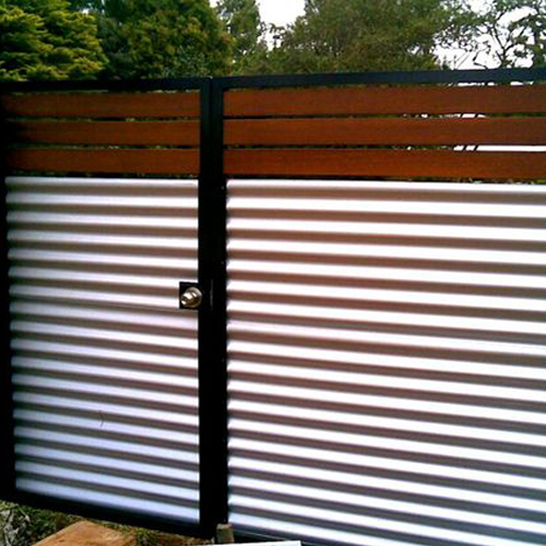 Figure 2 Cladding; Metal Sheets used to make a Gate